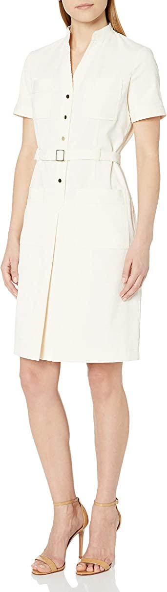 Anne Klein Vestido camisa de bolsillo para mujer: Amazon.es ...