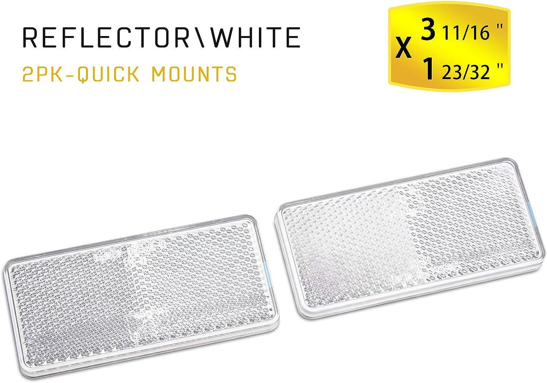 Yellow, 94x44mm MFC PRO Trailer caravan rectangular reflectors Set of 2