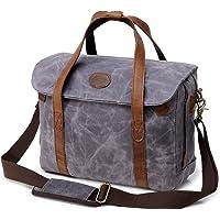 Kemy's Men's Waxed Canvas Satchel Bag (Gray)