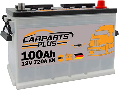 CARPARTS PLUS G28CARPARTS Batteria 100ah 720A 12V Polo DX: Amazon