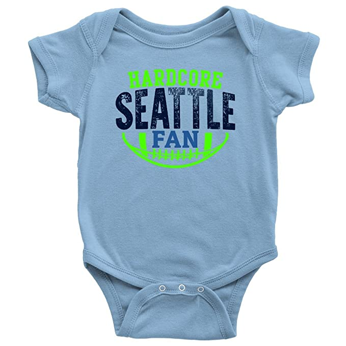 Amazon.com: passionloft Hardcore Seattle Fan de Fútbol body ...