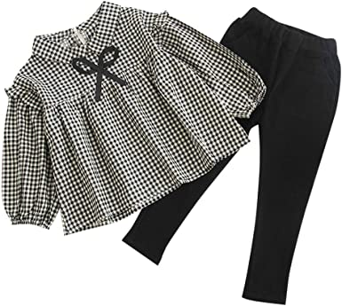 Kids Baby Girls Long Sleeve Floral Print Tops+Short Skirt Outfits Set Waymine