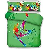 Helengili 3D Digital Printing Bedding Set Football Soccer Center Forward Bedding Bedclothes Duvet Cover Sets Bedlinen 100 Percent Microfiber Present