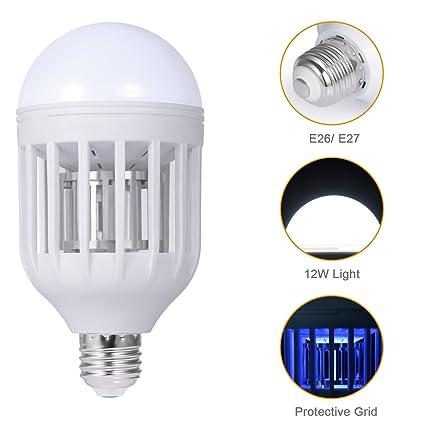 IHomy Electronic Insect Killer, Bug Zapper Light Bulb, Fly Killer, Mosquito  Killer,