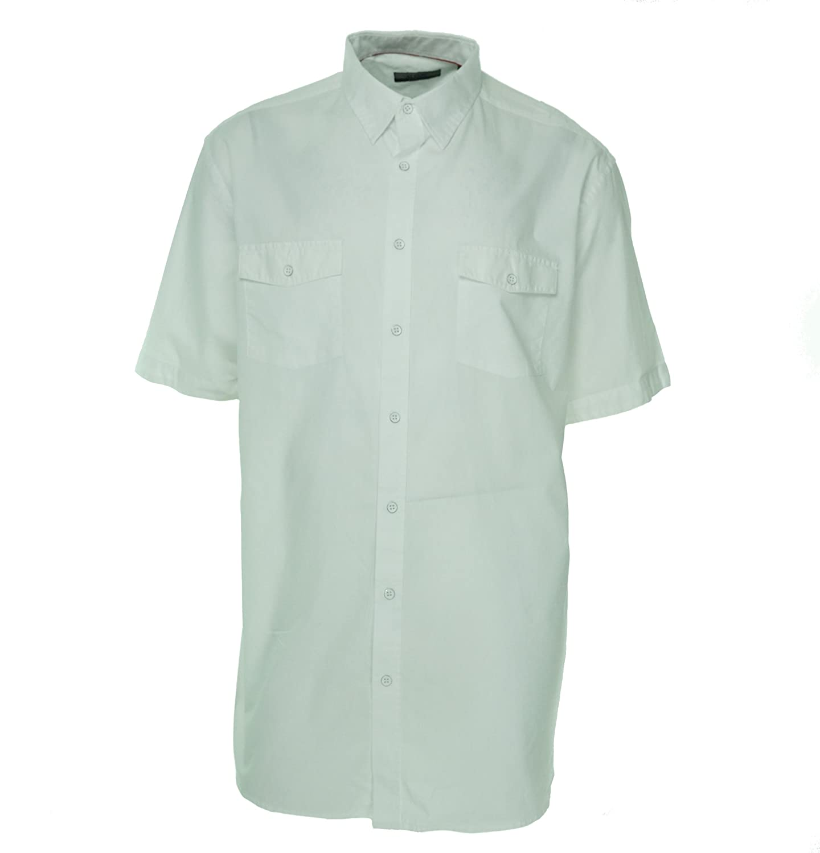 Alfani Mens Solid Ss Button Up Shirt