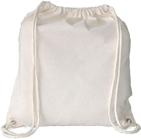 10 x 100/% Cotton Drawstring Rucksack Backpack Eco Tote Bag School Gym PE Book