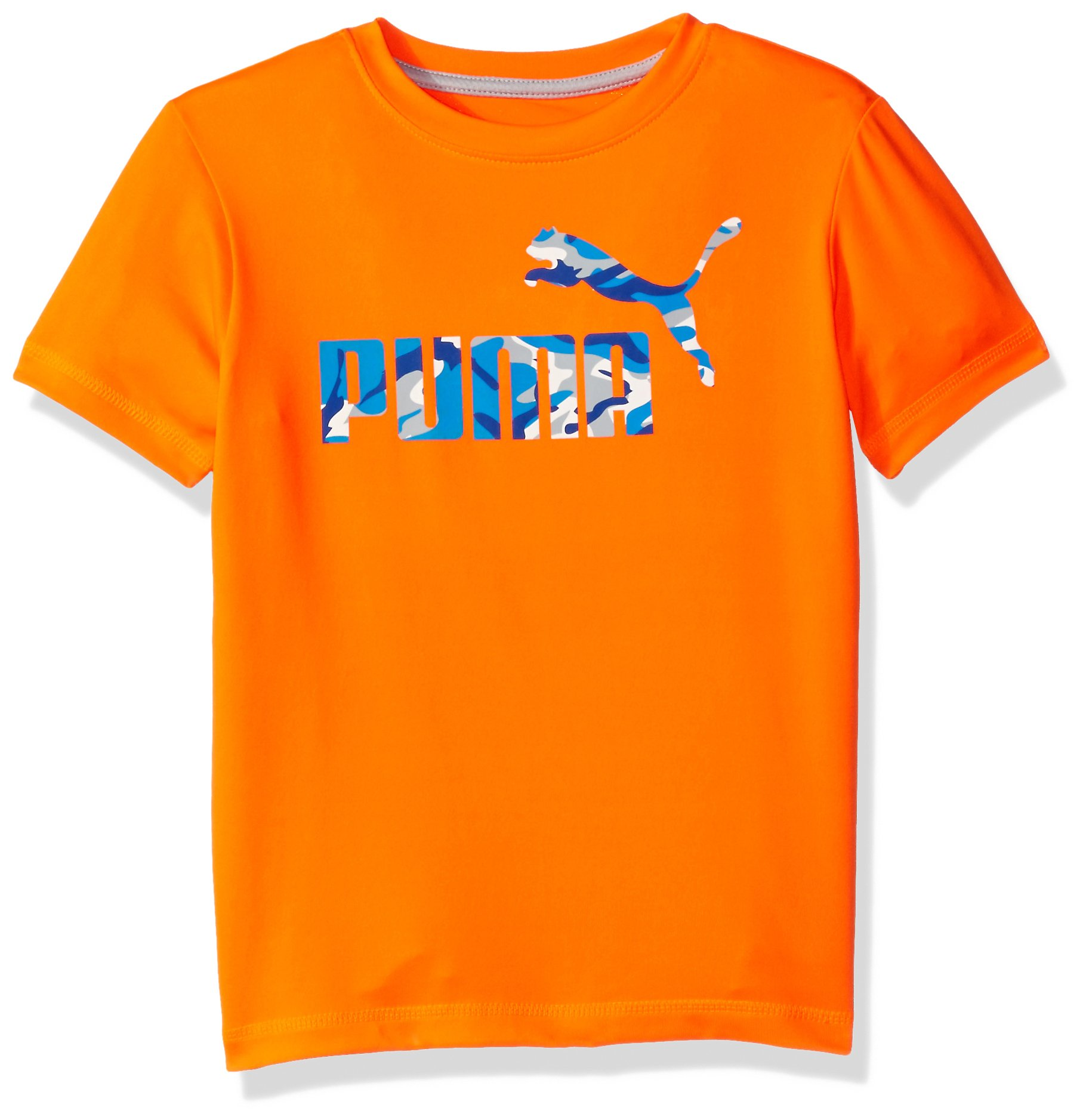 PUMA Big Boys' No.1 Logo Tee, Fire Orange, 10-12 (Medium) by PUMA