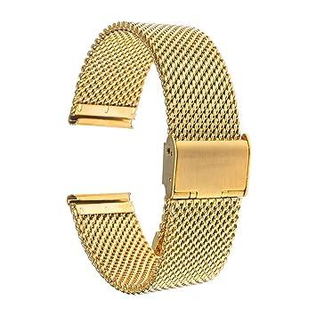 Para 36mm Daniel Wellington Banda, TRUMiRR 18mm Correa de reloj Milanese banda de acero inoxidable