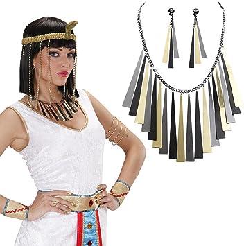 Joyas egipcio Cleopatra Cadena y Pendientes Cleopatra joyas set ...