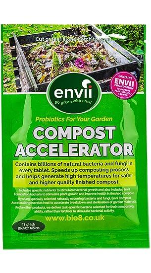 Envii Compost Accelerator- Envii Acelerador de Compost - Tratamiento Bacteriano que acelera el Proceso de