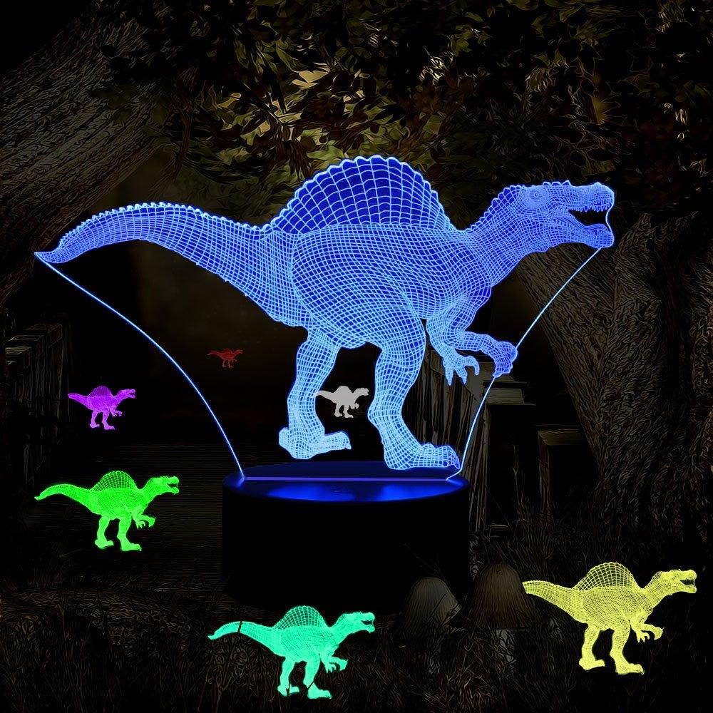 ギフトアイデアナイトライト3dイリュージョンランプ動物ライトLEDデスクランプユニークなギフト赤ちゃんホーム装飾オフィス寝室ウェディングパーティーデコレーション子供部屋照明7色 LLAM03 B0791HSRKH 14711 Dinosaur16z Dinosaur16z