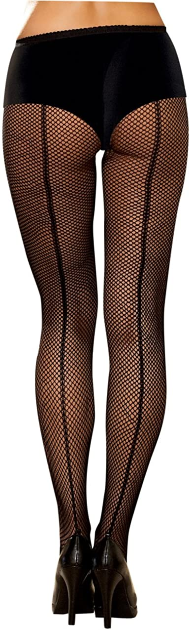 Dreamgirl Women's Fishnet Pantyhose, Black, One Size: Adult Exotic Hosiery: Clothing