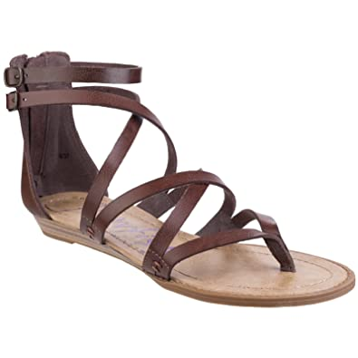 5235ed8f7 Blowfish Womens Ladies Bungalow Sandals (3 UK) (Whiskey)  Amazon.co ...