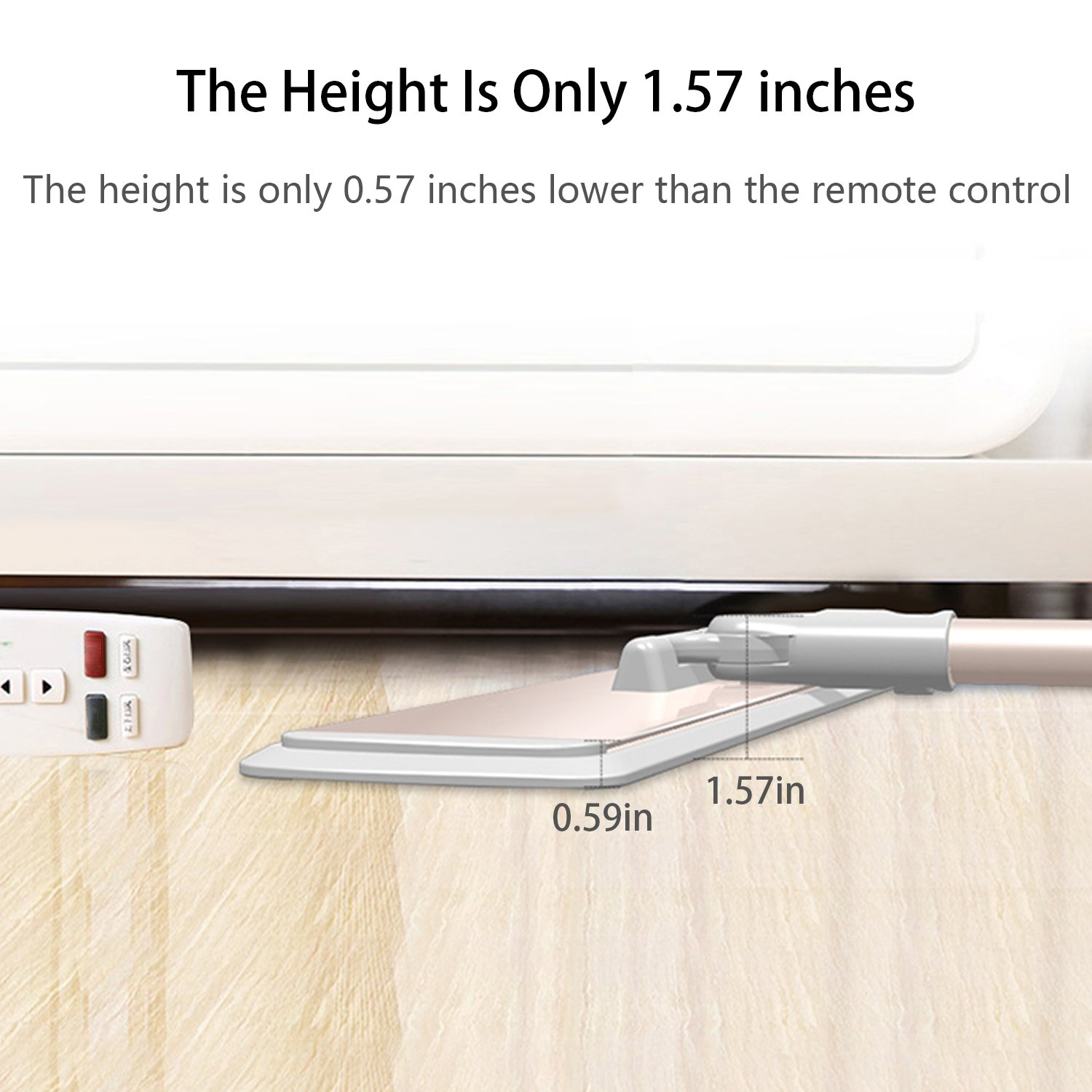 FRMARCH 18'' Professional Microfiber Mop 360 Flat Mop for Floor Cleaning, Wet and Dry Floor Cleaning Mops for Hardwood, Wood, Tile, Walls,Commercial Grade Metal Handle/Head,All in 3 mop pad by FRMARCH (Image #4)