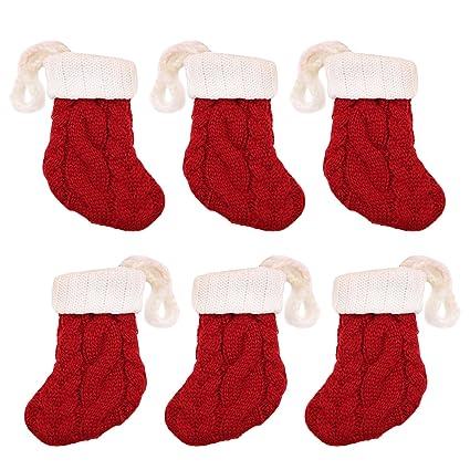 Amazon 6pcs Christmas Stockings Knitting Sock Gosear Mini