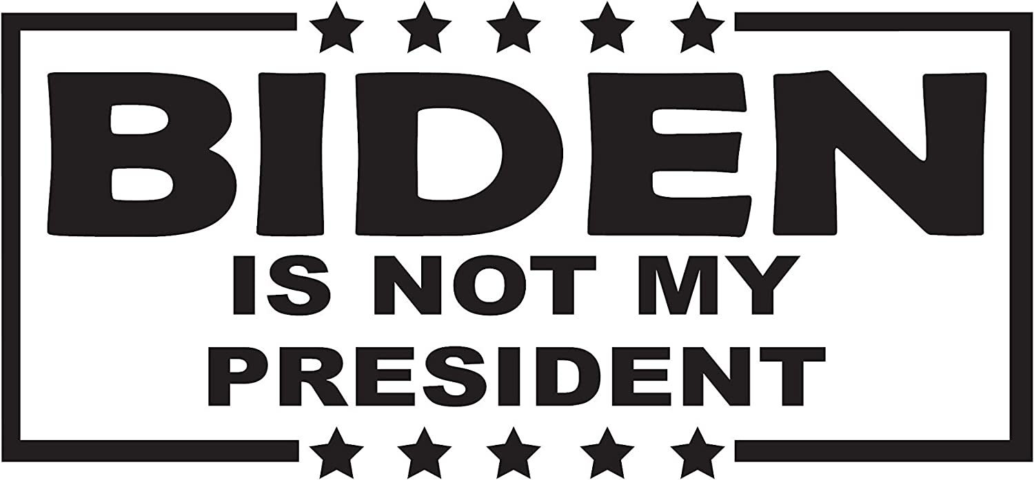 UTF4C Biden is Not My President Die Cut Decal - Home Laptop Computer Truck Car Bumper Sticker Decal