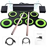 Powerpak G3001A Hand Roll Up Electronic Drum Pad with Headphone (Black/Green)