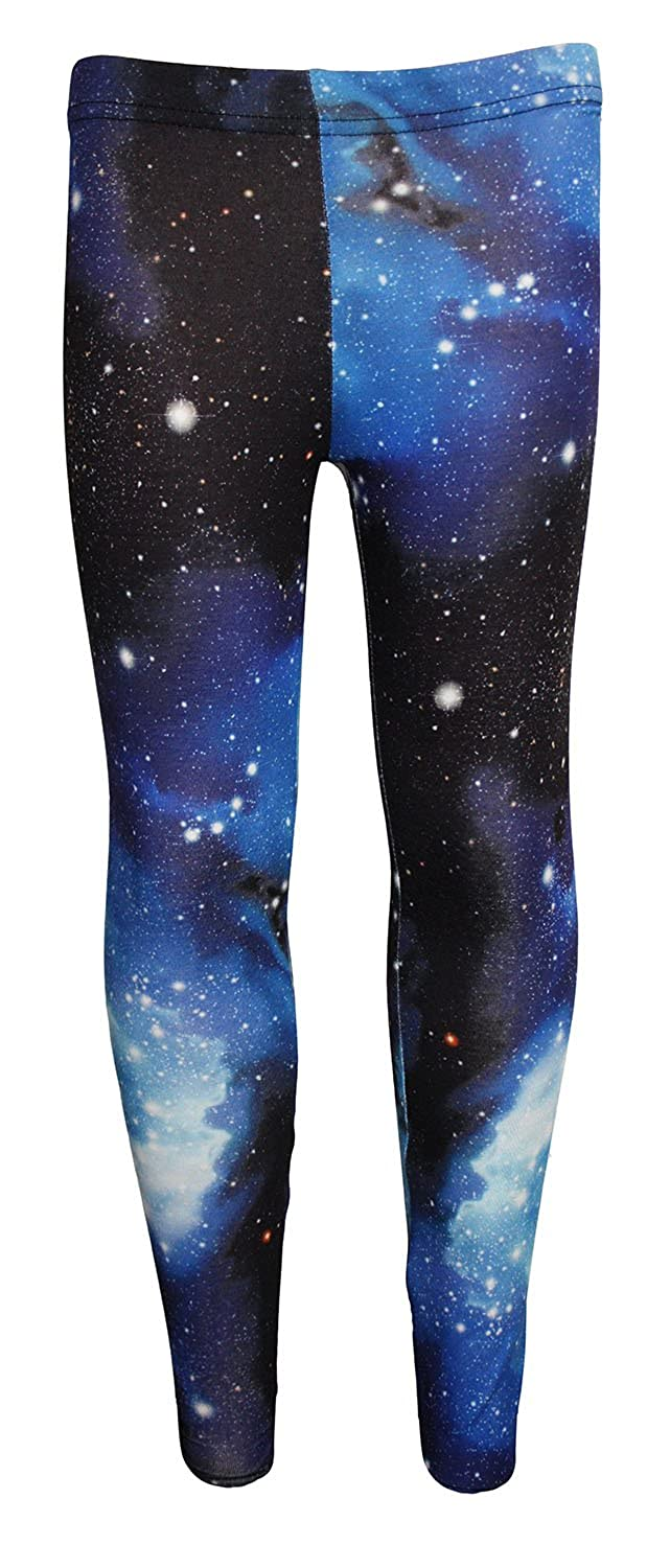 f134752115e77 Amazon.com: Girl's Children's Awesome Blue Galaxy Space Universe Print  Leggings: Clothing