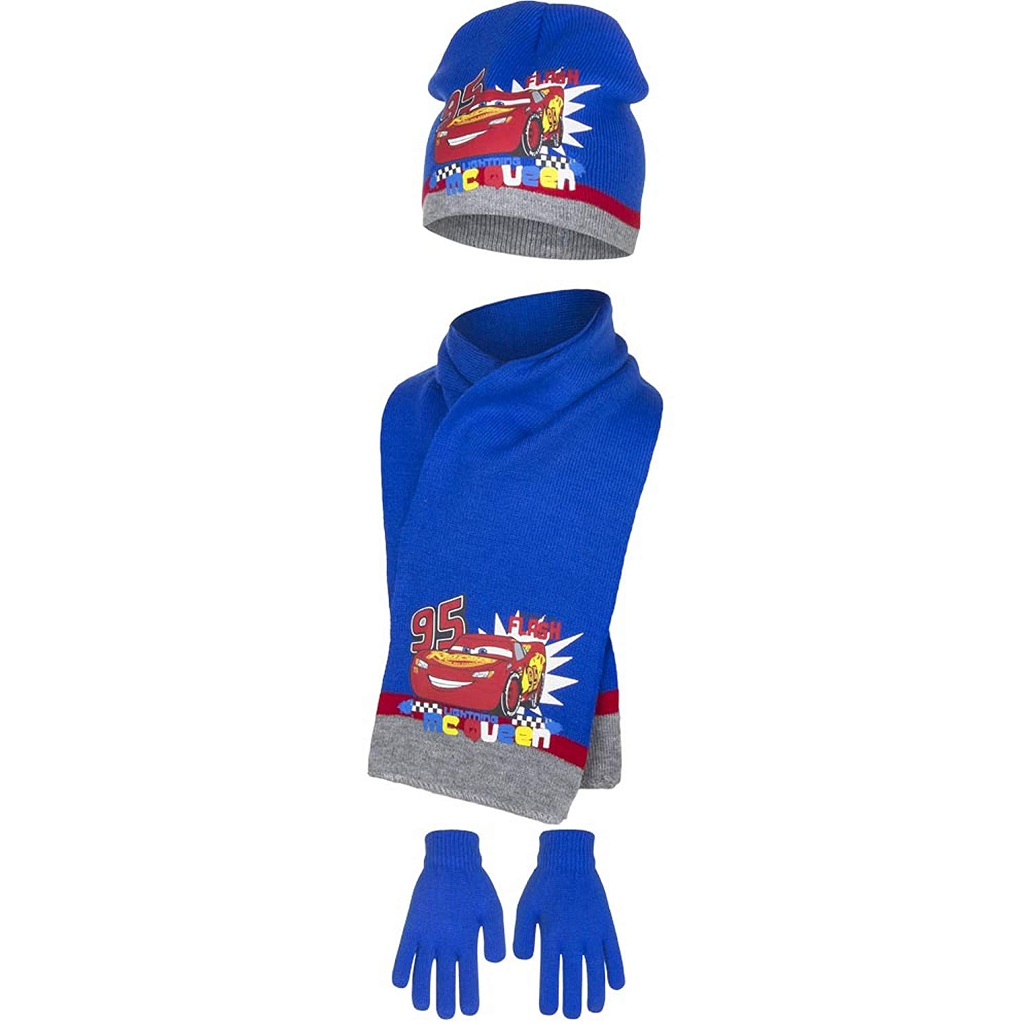Disney Cars Childrens Boys Gone in A Flash Winter Hat, Scarf and Gloves Set CAR4119HSG