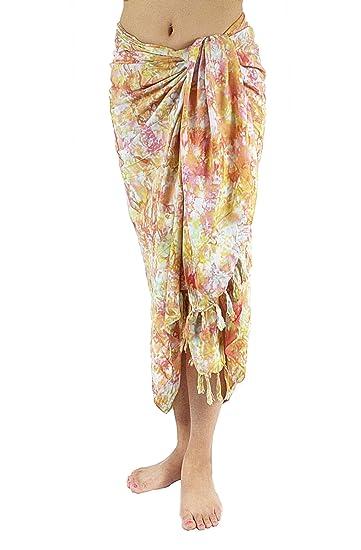 e44e0aa64e780 Amazon.com: Hand Dye Batik Sarong, Pareo/ Scarf - 1860 By Lotus ...