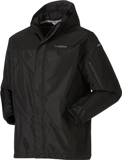 f0c9ae0630165 Amazon.com: Field & Stream Men's Squall Defender Rain Jacket, (Black ...