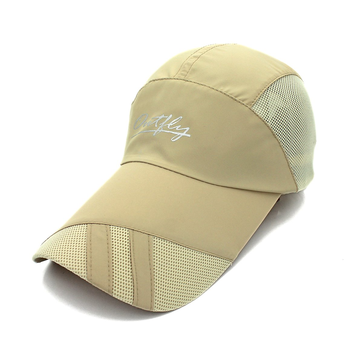 outfly Lightweight Baseball Cap Quick Dry Outdoor Sport Running hat Lengthen Brim Sun Protection Breathable Hat Cap 55-62cm Grey A18002