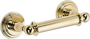 Ginger 1108N/PB Chelsea, Double Post Toilet Tissue Holder, Polished Brass