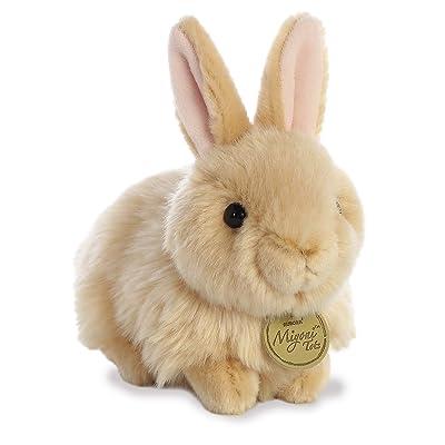 """Aurora - Miyoni - 7.5"""" Angora Bunny Tan: Toys & Games"""