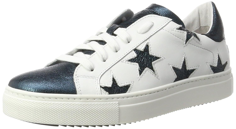 Stokton Sneaker, Zapatillas para Mujer 40 EU|Multicolor (Bianco/Verde)