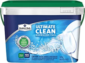 Member's Mark Ultimate Clean Automatic Dishwasher Pacs (105 ct.) (pack of 2)