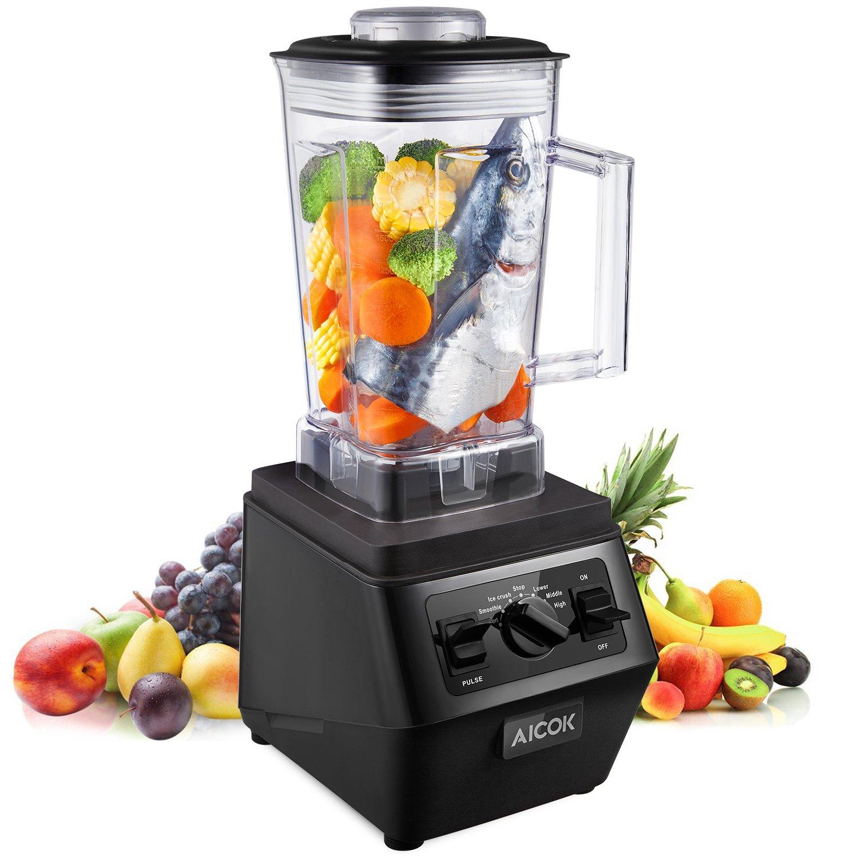 Aicok Smoothie Blender, Blender for Soup, High Speed Blender 30,000RPM, Commercial Blender, Countertop Blender with Huge Tritan Pitcher/Cup, Heavy Duty Professional Blender with Single Serve