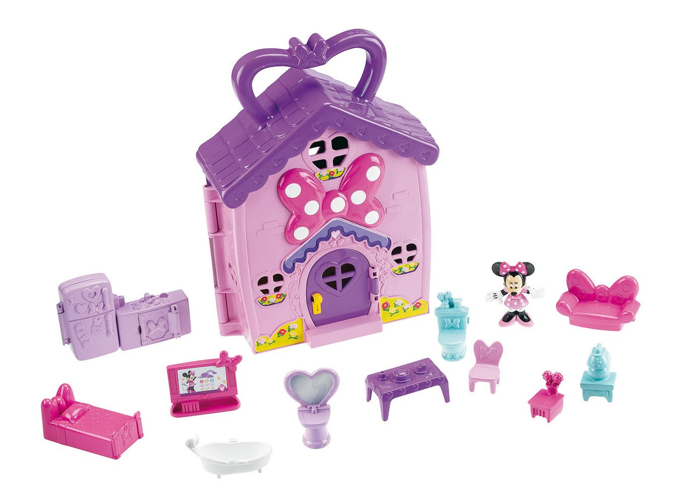 Amazon.com: Mickey Mouse Clubhouse Minnies House Playset: Toys & Games