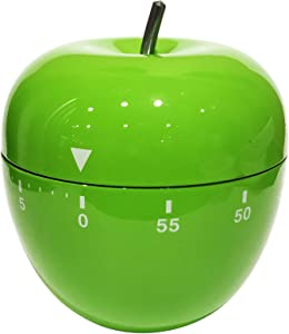 Oggi 7258.11 Green Stainless Steel Apple 60 Minute Kitchen Timer