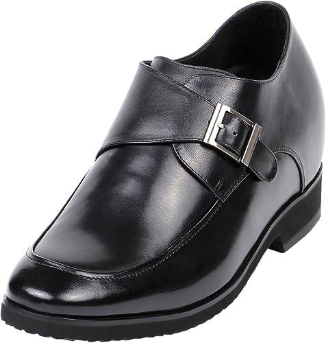 Men Dress Elevator Shoes Buckle Loafer
