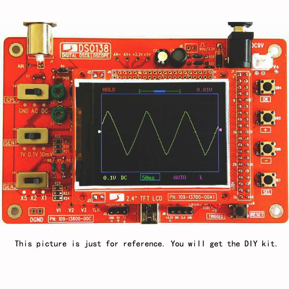 DSO138 Digital Oscilloscope Kit 2.4 TFT Handheld Pocket-size DIY Parts Electronic Learning Set JYE