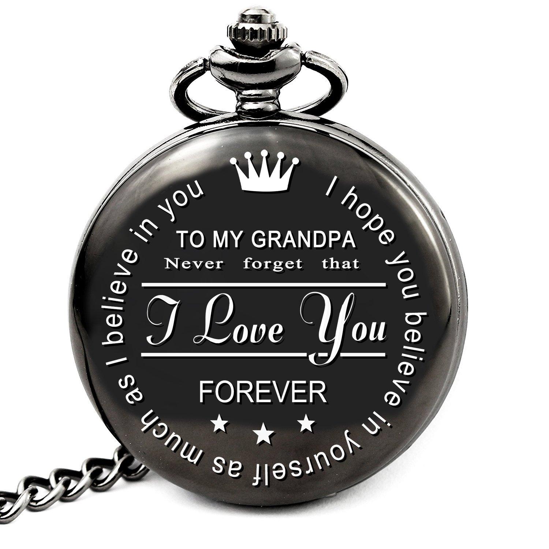 LEVONTA to My Grandpa Pocket Watch Gifts from Granddaughter to Grandpa Gifts from Grandson (to My Grandpa)