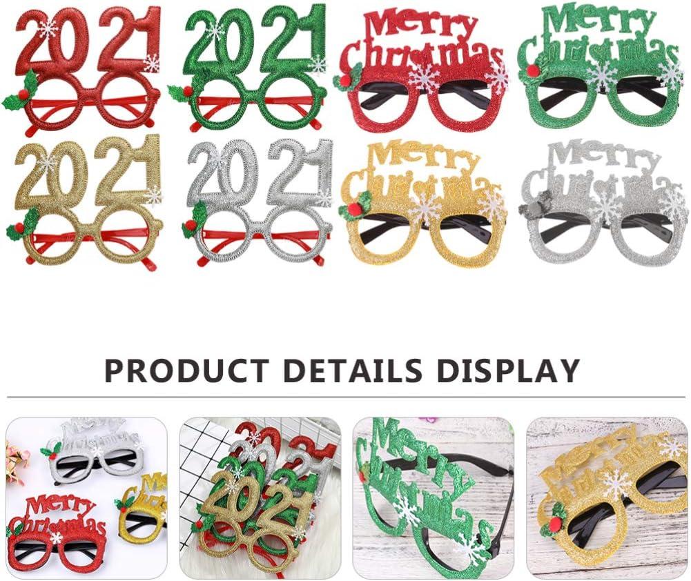 Amosfun Creative Lightweight Durable Decorative Novelty Christmas Glasses Party Holder Eyeglasses Children Friends Kids