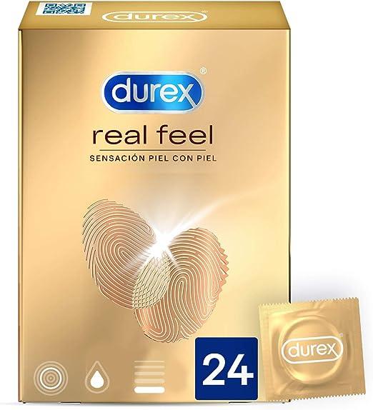 Durex Preservativos Real Feel 24 Condones Sensitivos sin Latex (3052852): Amazon.es: Salud y cuidado personal