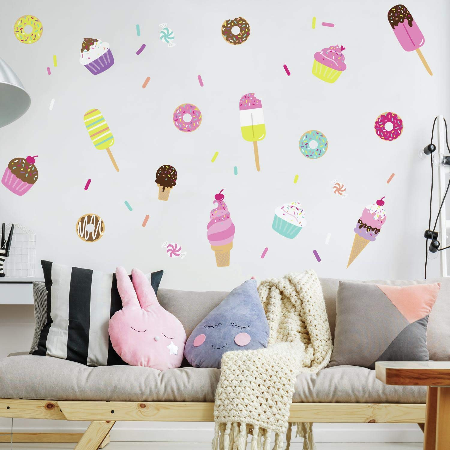 RoomMates RMK3769SCS Sweet Treats Peel and Stick Wall Decal Multi