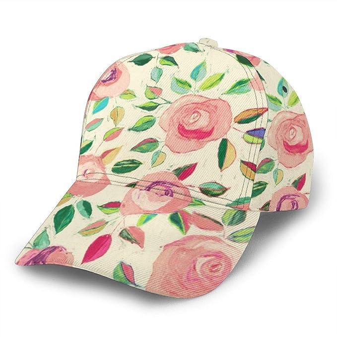 Gorra de béisbol Ajustable con diseño de Rosas Pastel, Color Rosa ...