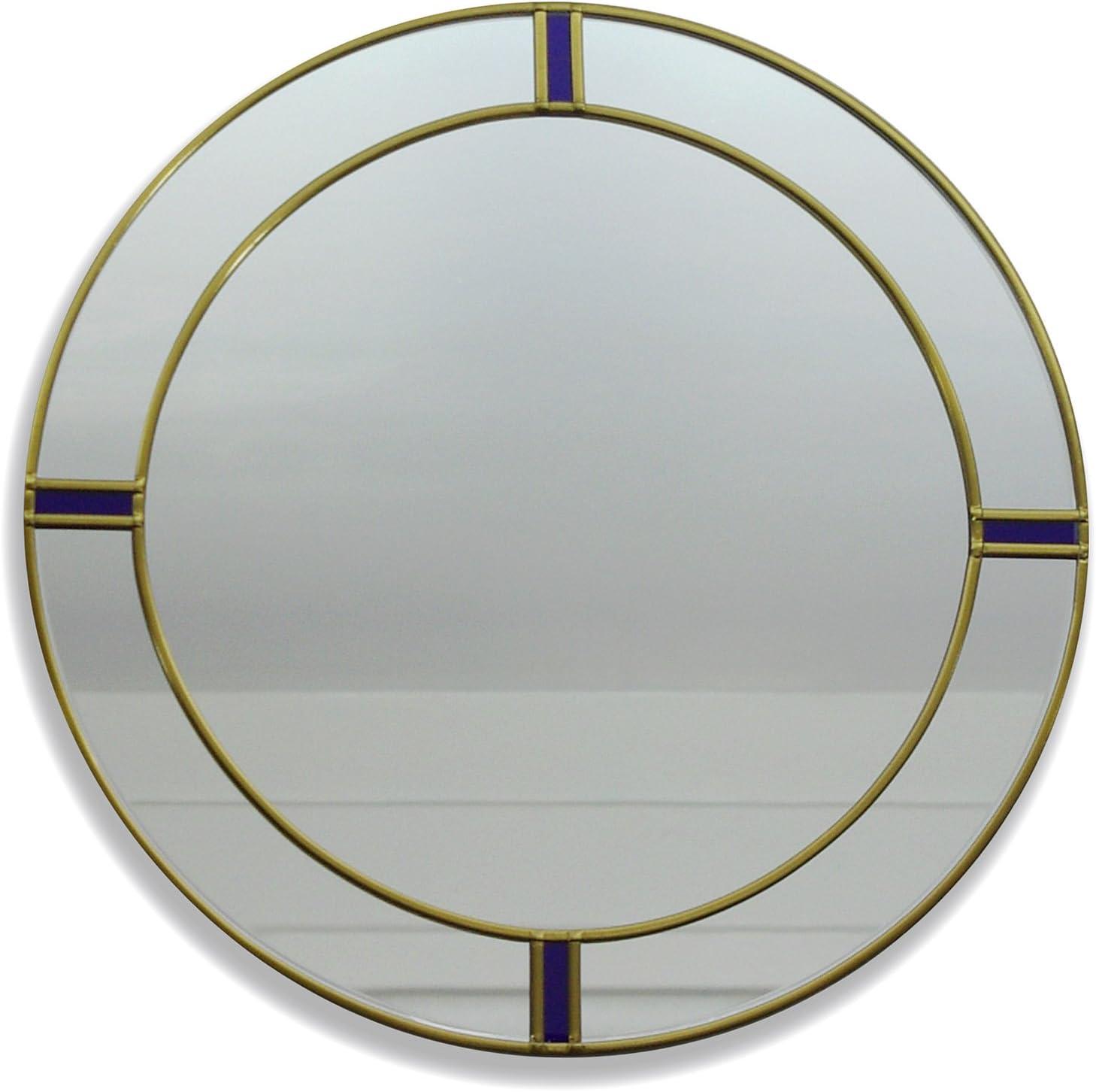 Berlin Art Deco Style Round Large Wall Mirror 40cm Diameter Amazon Co Uk Beauty