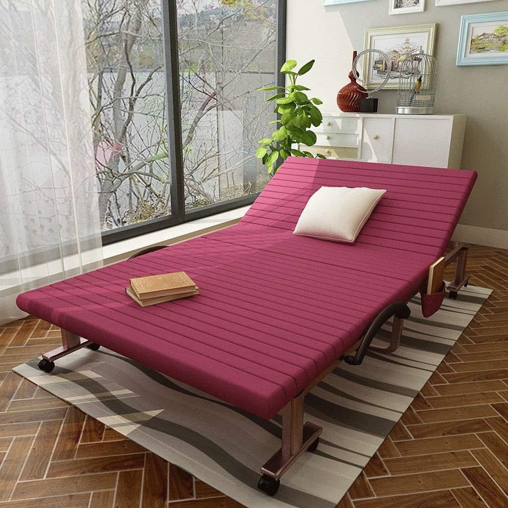 Klappbett Installation Einfache Single Escort Bett Camping Bett Siesta Bett (Color : A4, Size : 90cm Wide)