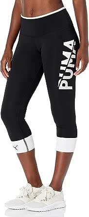 PUMA Women's Modern Sports FOLD UP 7/8 Tights, Black White