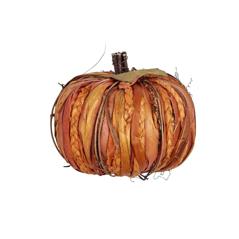 Worth Imports 7 Raffia Tabletop Pumpkin Burgundy