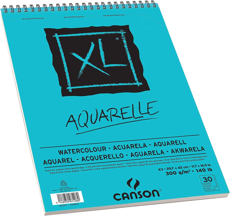 Bloc de aceite y acr/ílico DIN A3, 30 hojas, 290 g//m2 CANSON XL Huile /& Acrylique