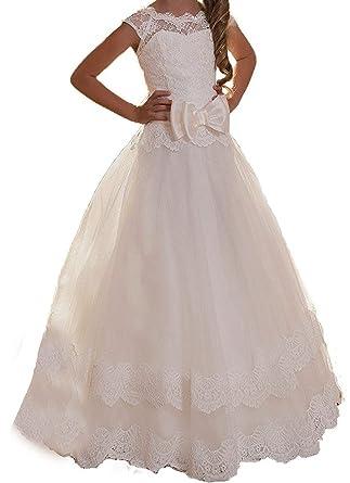 4312503b2e3da Lisa Lace Half-Sleeve Flower Girl Dress 2019 Holy First Communion Dress