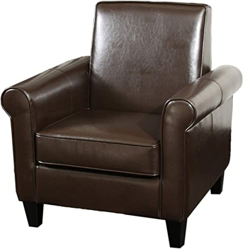 Christopher Knight Home Freemont Leather Club Chair