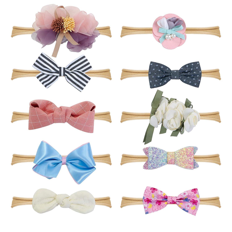 Amazon.com  Fancy Clouds Baby Girl Headbands Bows 336ececa723