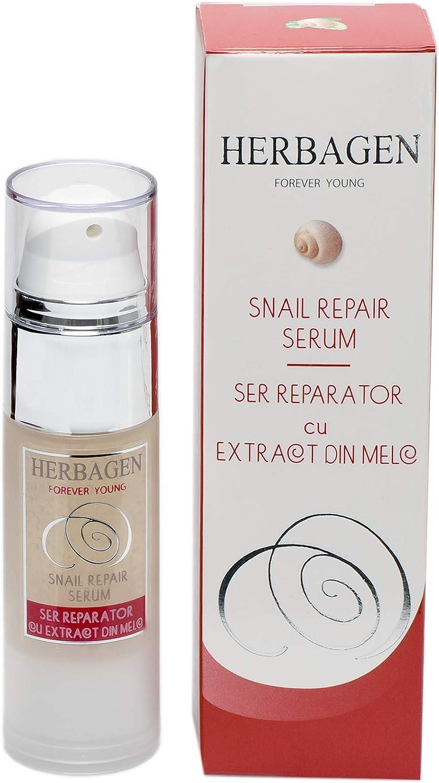 Herbagen - Sérum concentrado reparador intensivo para todo tipo de piel, 99% baba de caracol