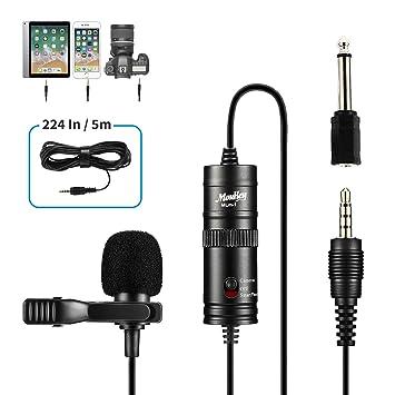 Moukey MLm-1 - Micrófono de Corbata omnidireccional con Clip (5,7 ...